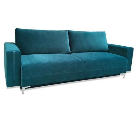 Marsylia Dark Green Háromszemélyes kihúzható kanapé