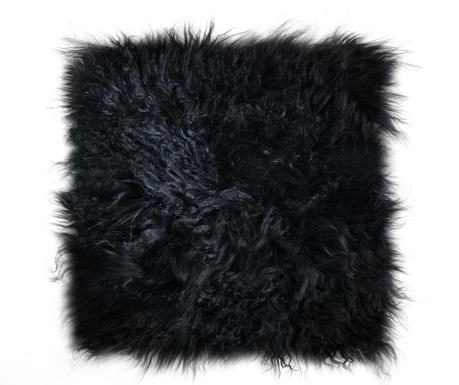 Navlaka za jastuk za sjedenje Fur Black 40x40 cm