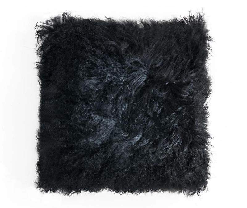 Декоративна възглавница Fur Black 40x40 см