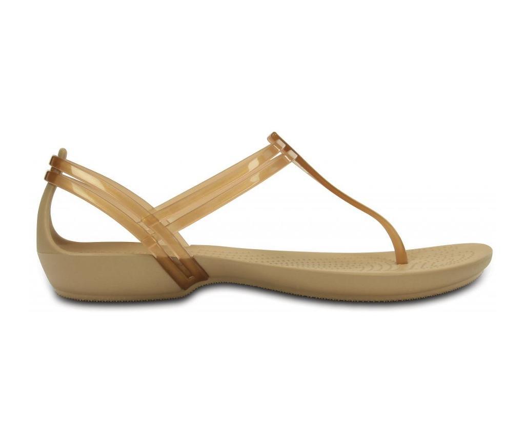 Ženski sandali Crocs Isabella T-strap Golden 38-39