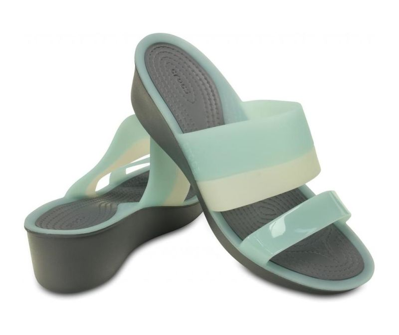 Ženski natikači ColorBlock Wedge Mint 37-38