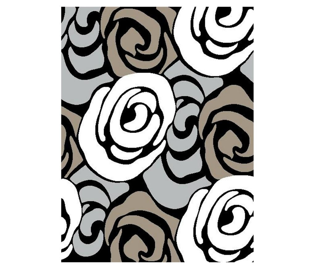 Килим за баня Rose Grey and Cream 60x110 см