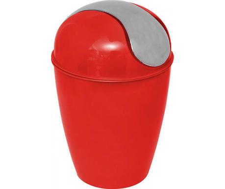 Odpadkový koš s víkem Peva Red