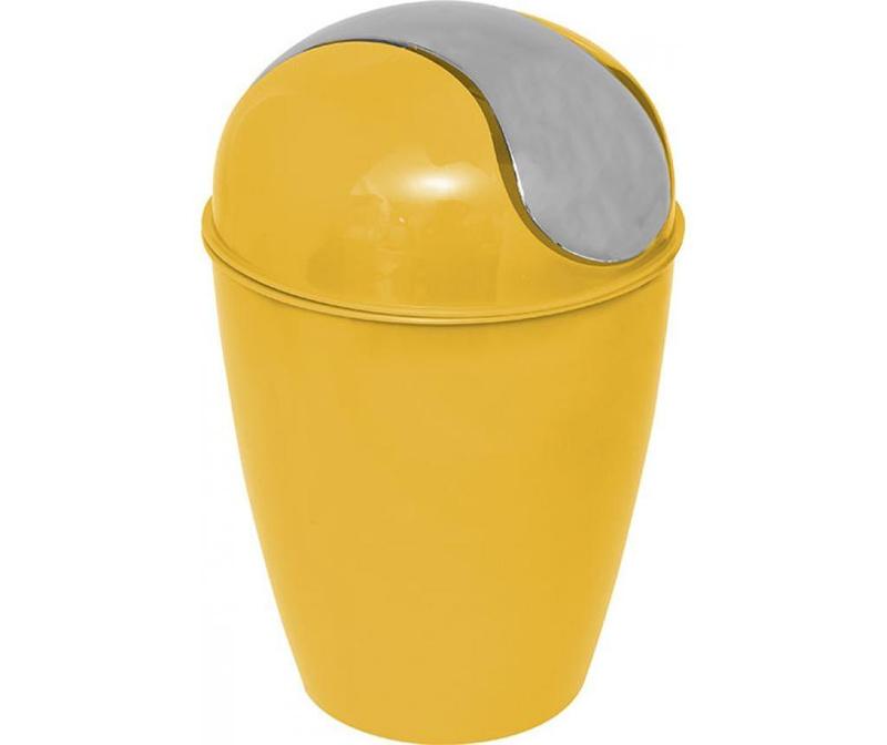 Кош за отпадъци с капак Peva Yellow