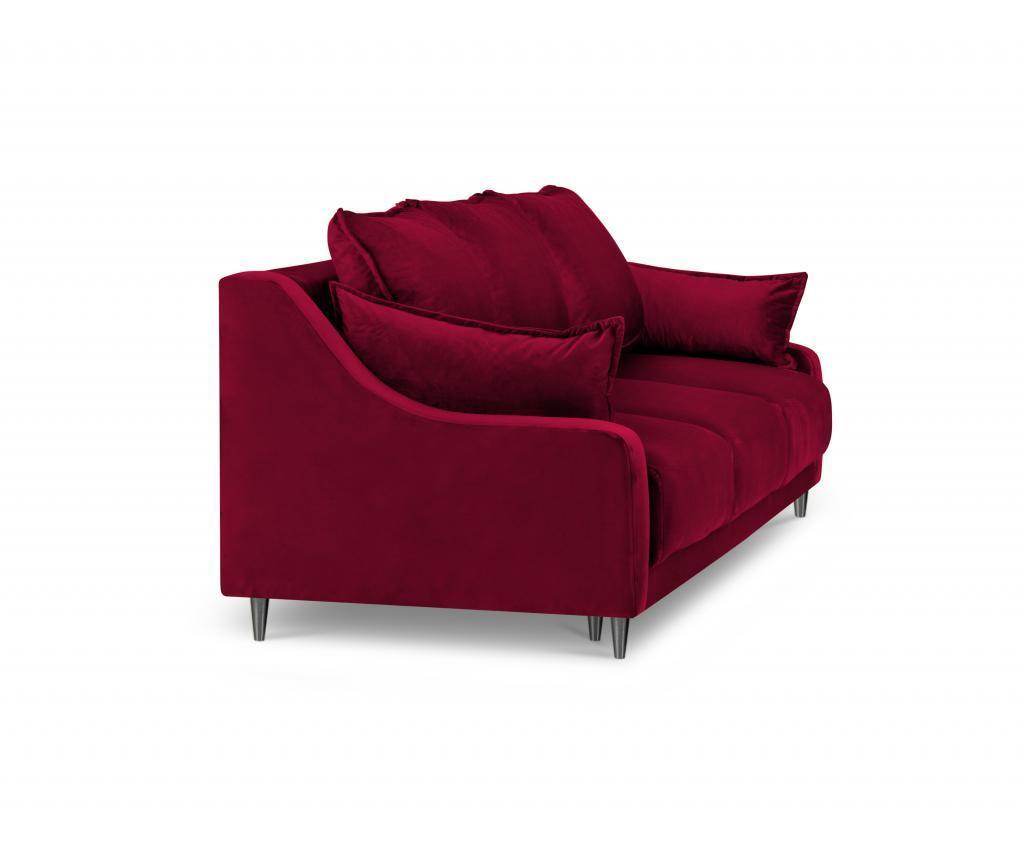 Canapea extensibila 3 locuri Lilas Red