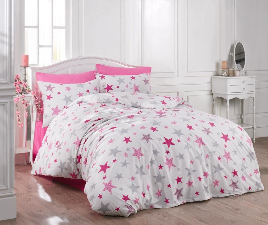 Posteljnina King Ranforce Galaxy Pink 200x220