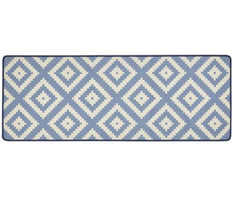 Preproga Loop Blue Creme 67x180 cm