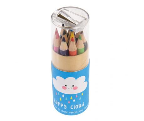 Set 12 creioane colorate Happy Cloud