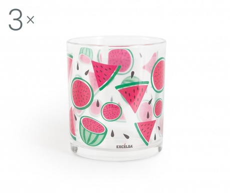 Set 3 pahare Watermelon 250 ml