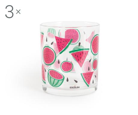 Sada 3 pohárov Watermelon 250 ml