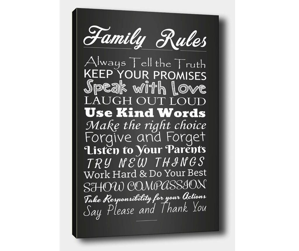 Slika Family Rules 50x70 cm