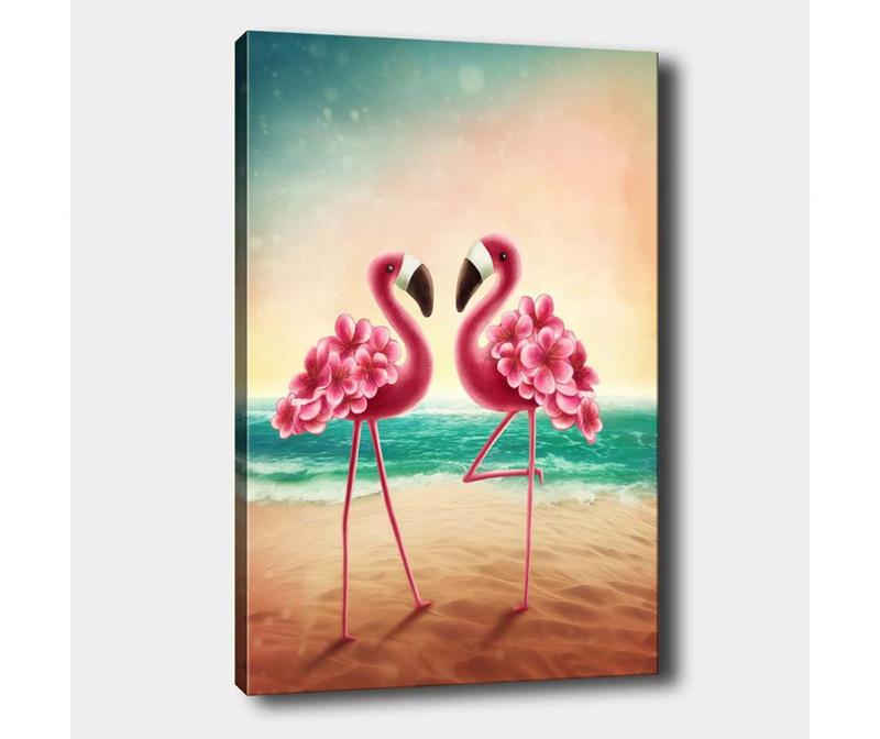 Tablou Flamingo Love 40x60 cm