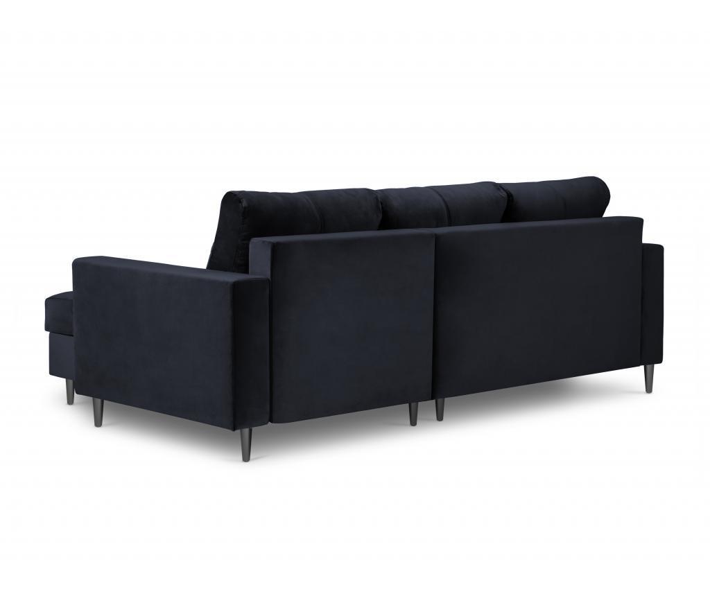 Andante Dark Blue Megfordítható és kihúzható sarokkanapé