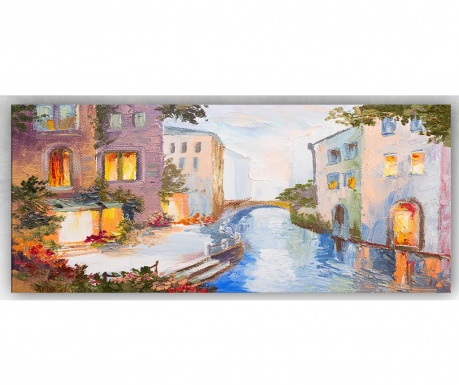 Slika House And Bridge 60x140 cm