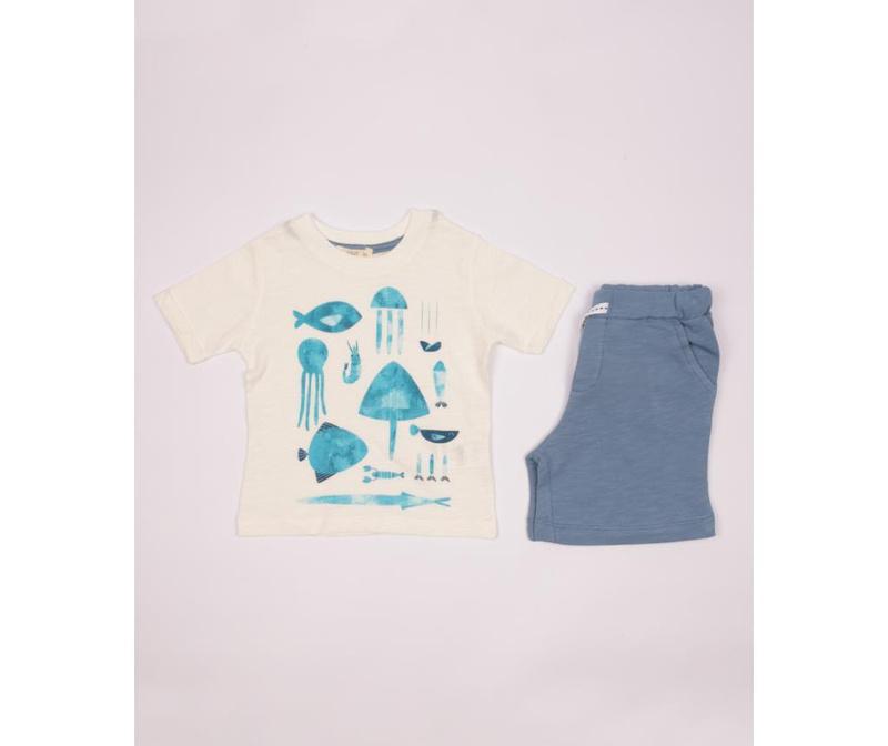 Sada dětské tričko a šortky Aron 3-4 r.