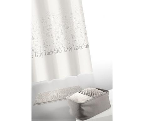 Zestaw zasłona prysznicowych z dywanikiem łazienkowym i pudełkiem na kosmetyki Guy Laroche Home Shower Curtain