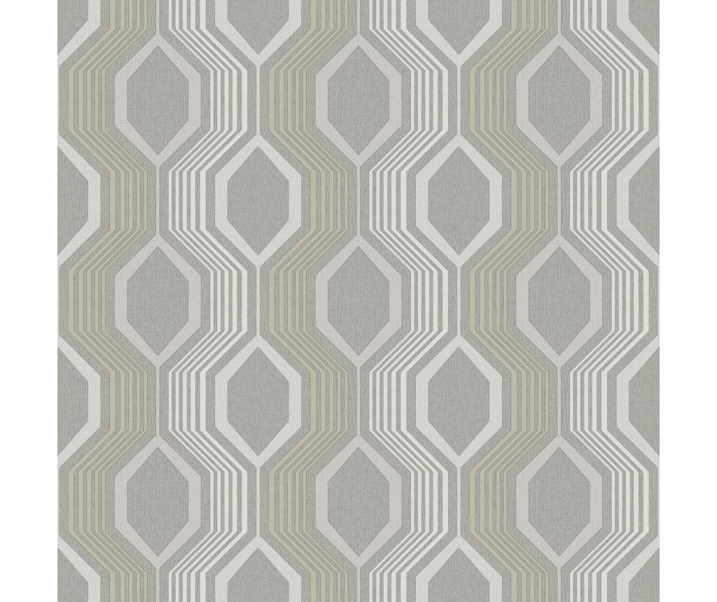 Stenska tapeta Hexagon  Grey 53x1005 cm