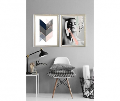 Σετ 2 πίνακες Greys 23x33 cm