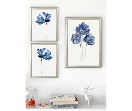 Σετ 3 πίνακες Flower