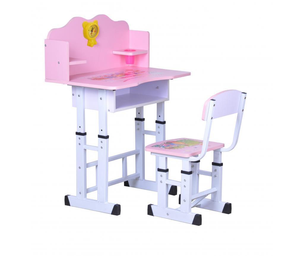 Set - 1 otroška pisalna miza in 1 otroški pisalni stol