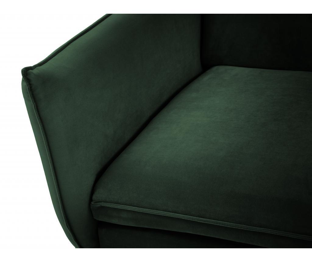 Sofa cu 2 locuri Biagio Bottle Green