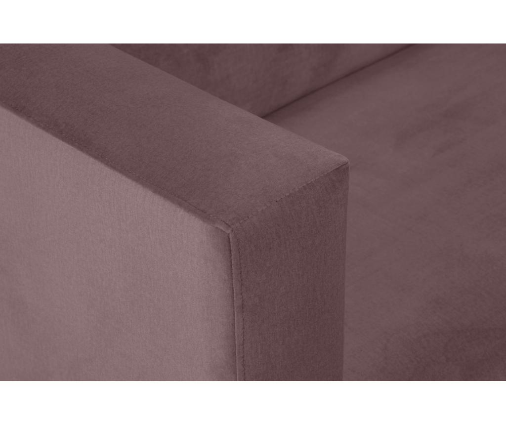 Canapea cu 2 locuri Carla Dark Pink
