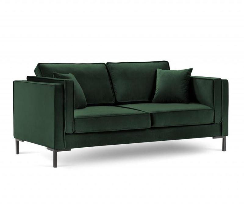 Sofa cu 2 locuri Luis Bottle Green