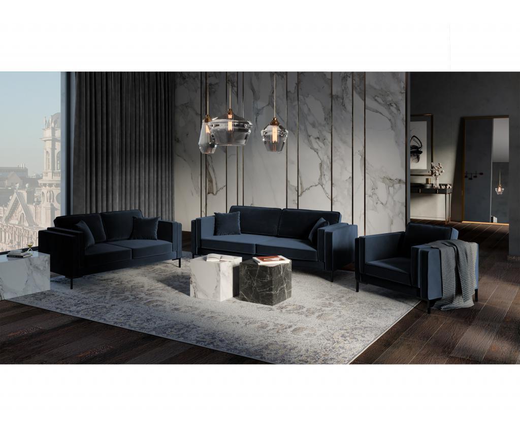 Canapea cu 2 locuri Luis Dark Blue