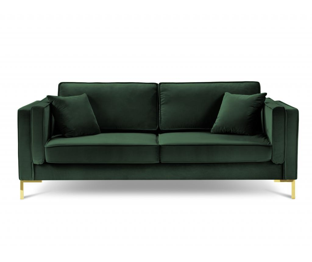 Canapea cu 3 locuri Giuseppe Bottle Green