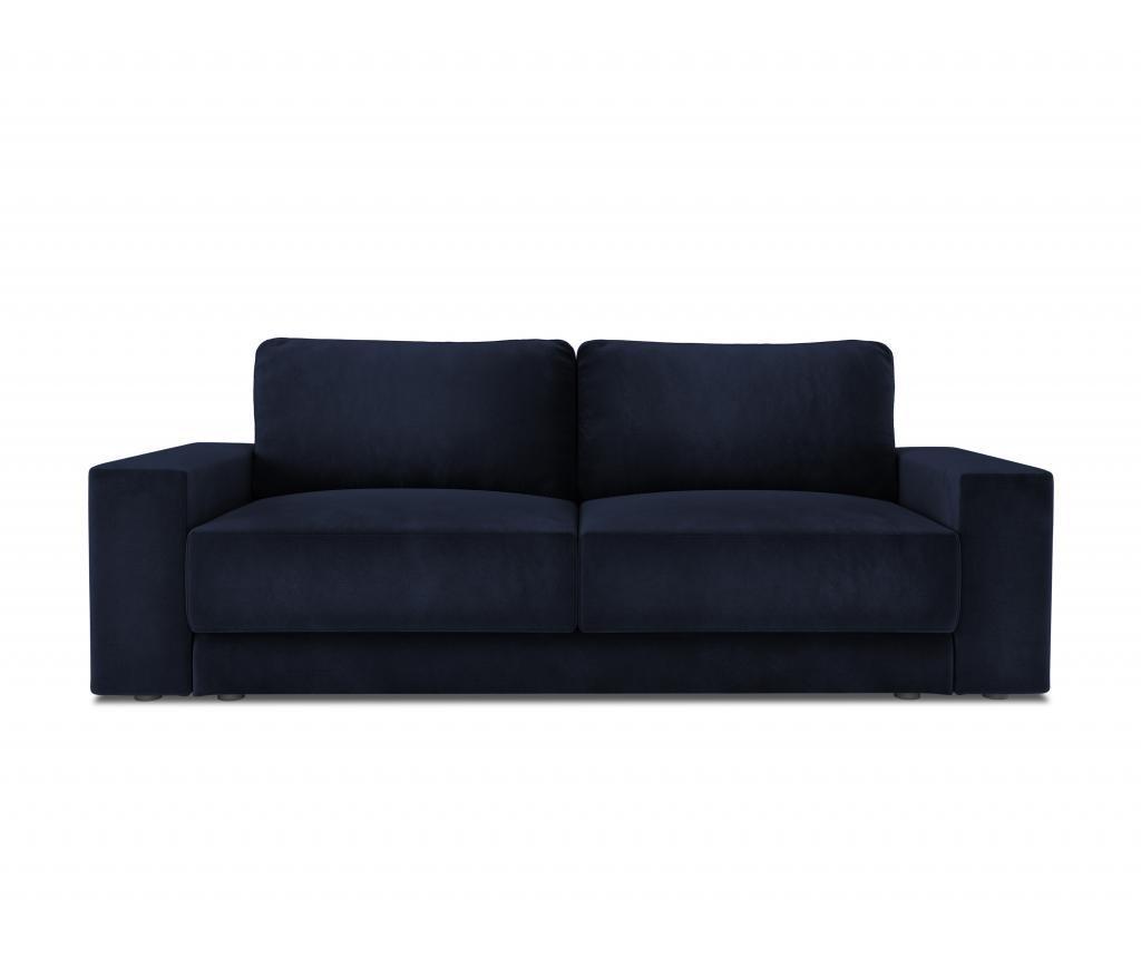 Canapea extensibila cu 4 locuri Gaia Dark Blue