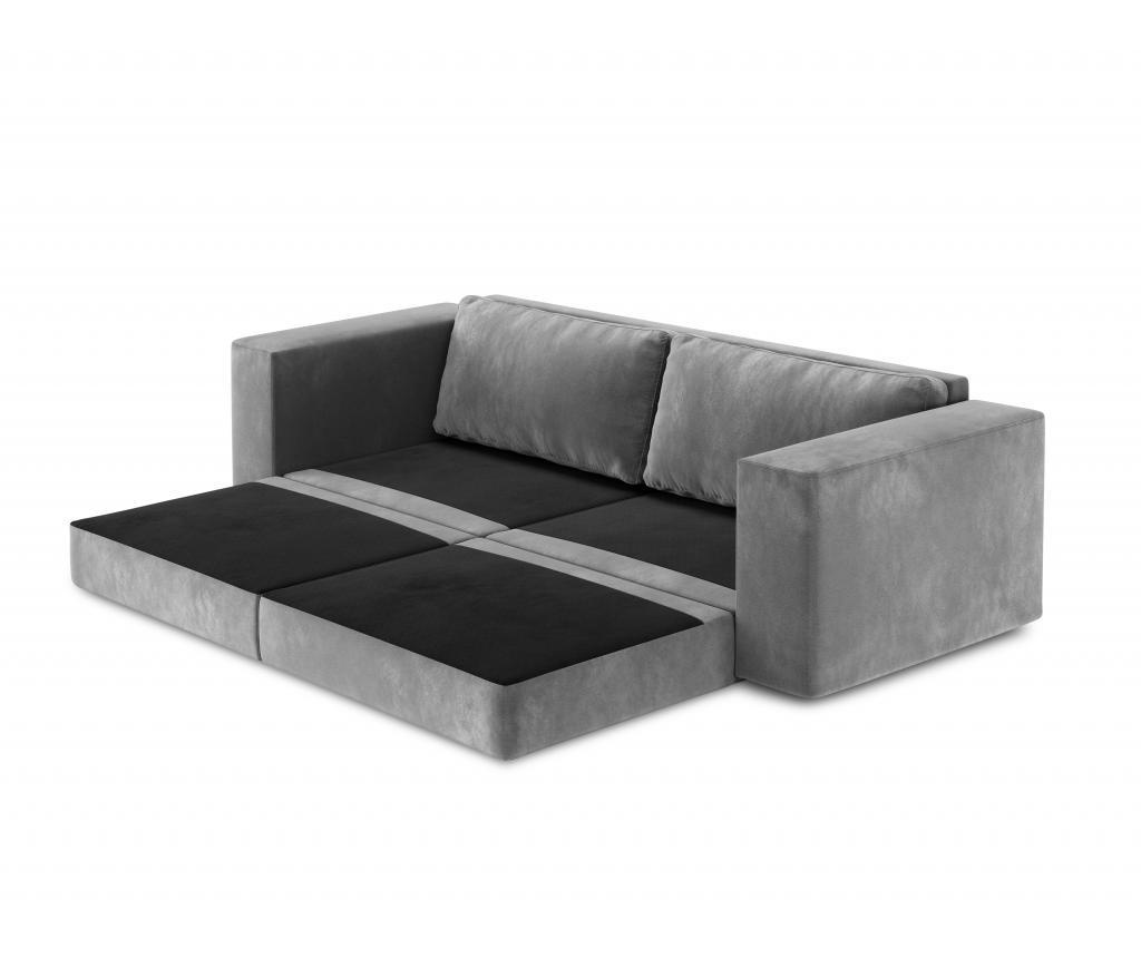 Canapea extensibila 4 locuri Gaia Light Grey