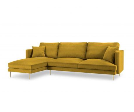 Leva kotna sedežna garnitura Flavio Yellow