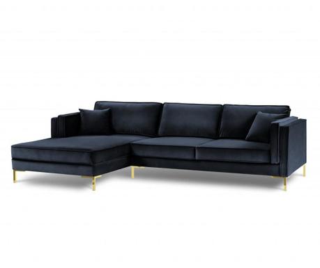 Leva kotna sedežna garnitura Giuseppe Dark Blue