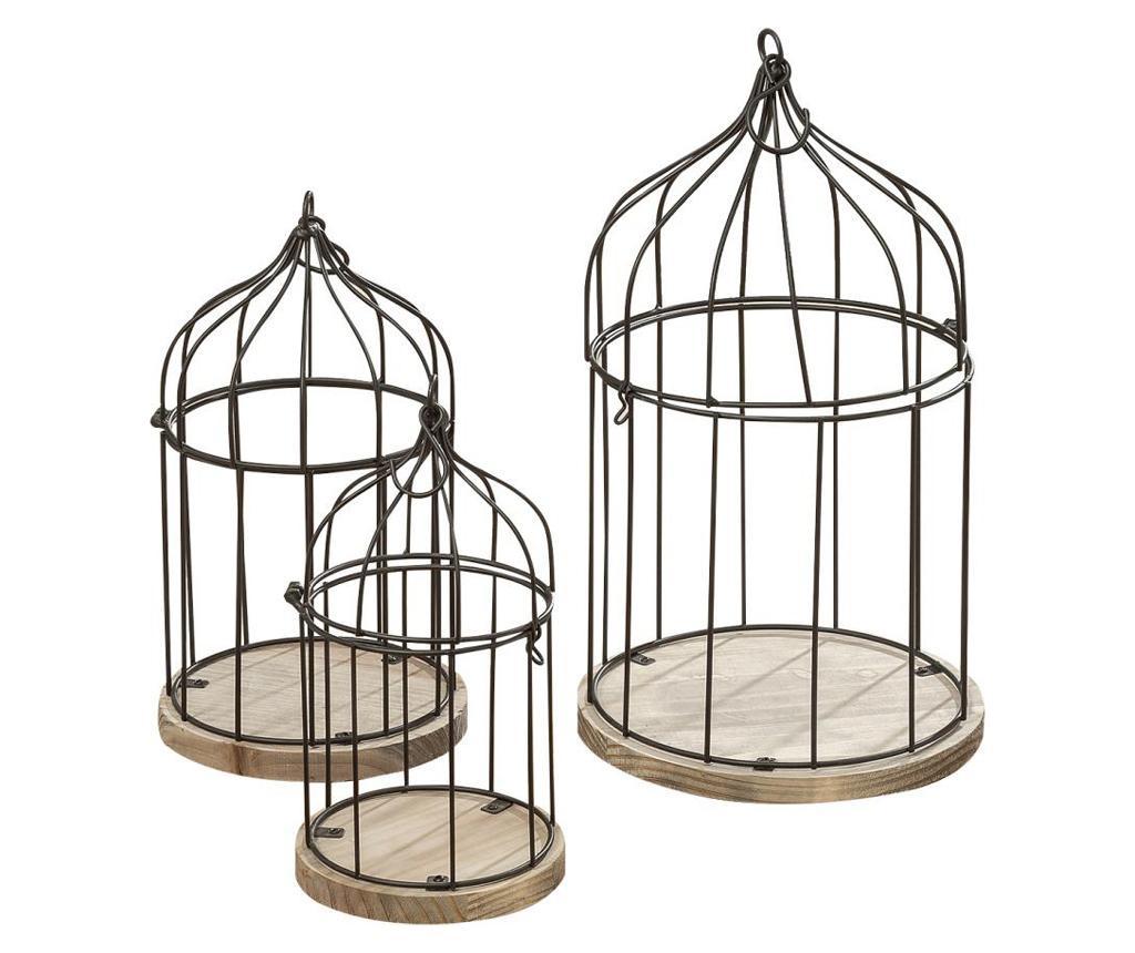 Set 3 dekorativnih ptičjih kletk Trill