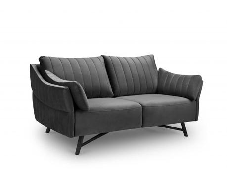Sofa trosjed Louvres Dark Grey