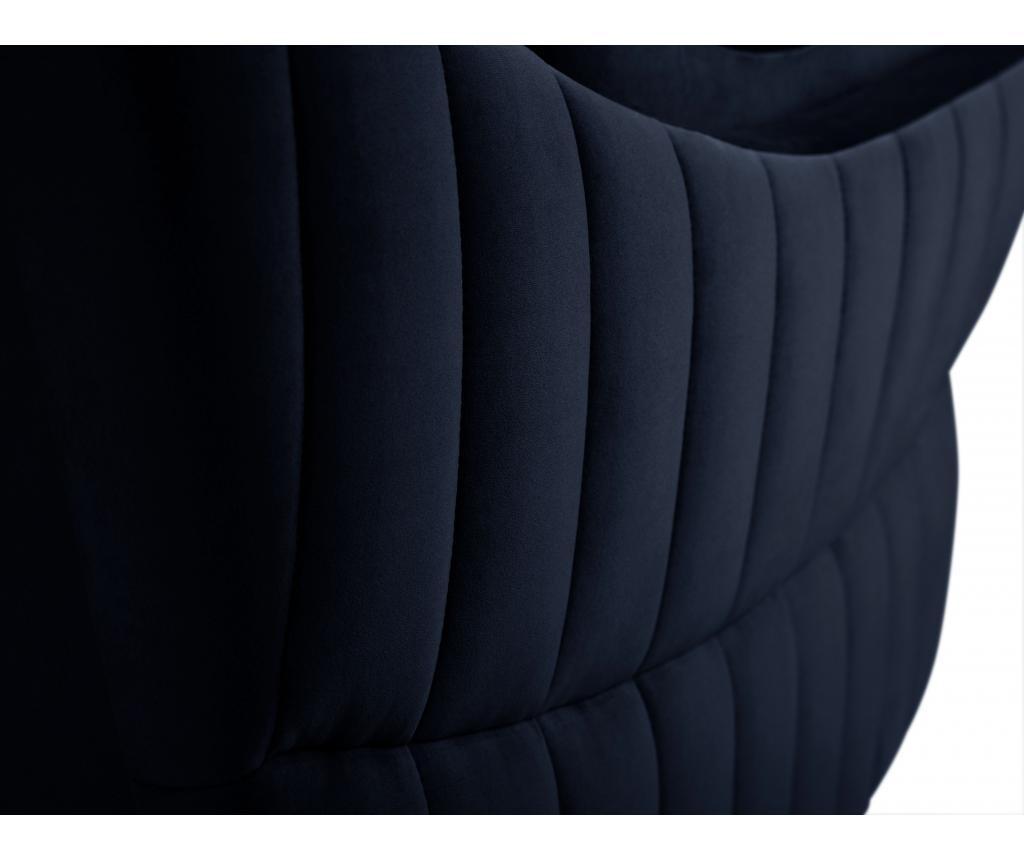 Canapea 2 locuri Louvres Navy Blue