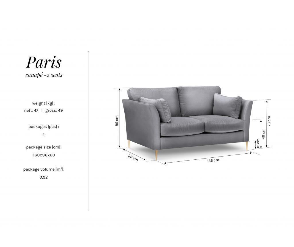 Canapea 2 locuri Paris Beige