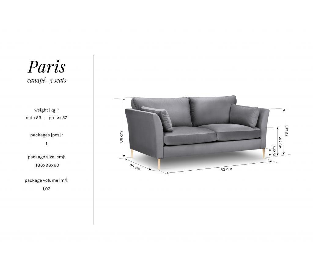 Canapea 3 locuri Paris Bordeaux