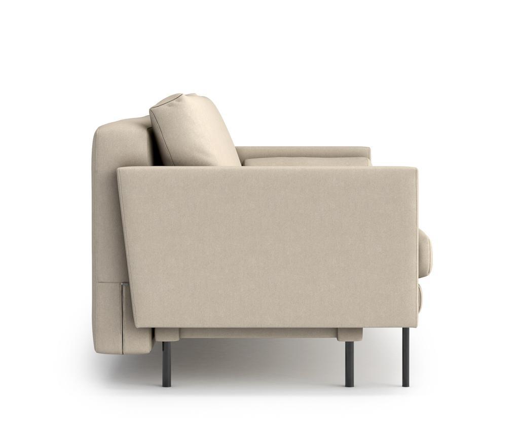 Canapea extensibila 3 locuri Blanca Cream
