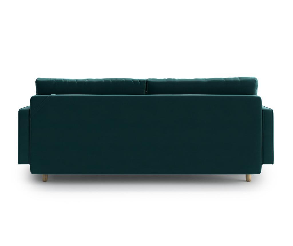 Esme Dark Green Kihúzható háromszemélyes kanapé