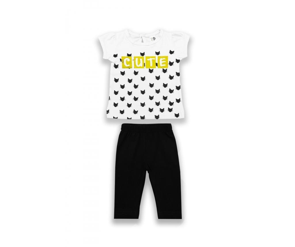 Set tricou si colanti pentru copii 6-9 luni