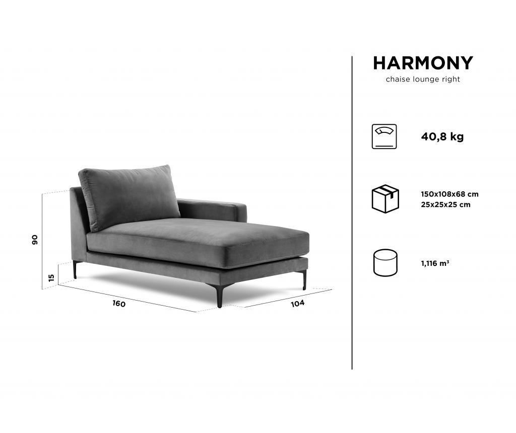 Sezlong living Harmony  Dark Grey
