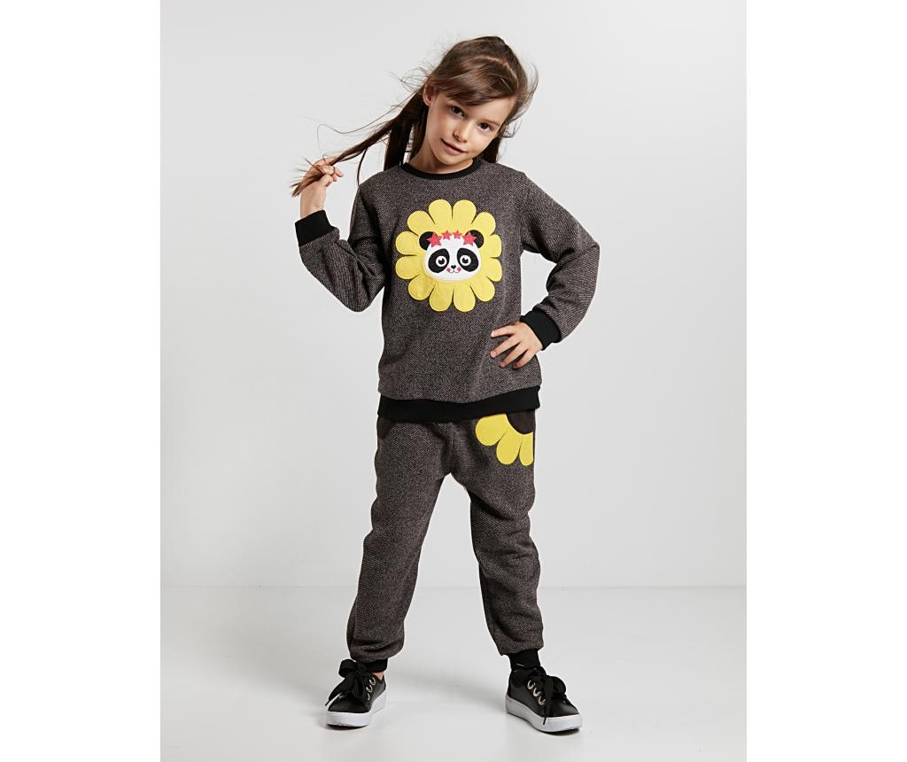 Set bluza si pantaloni Panda in Flower 9 ani
