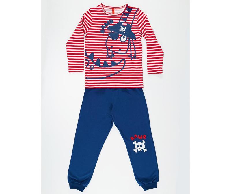 Set bluza si pantaloni pentru copii Pirate Striped 4 ani