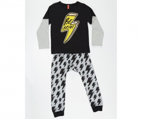 Set bluza si pantaloni pentru copii Yellow Thunder 9 ani