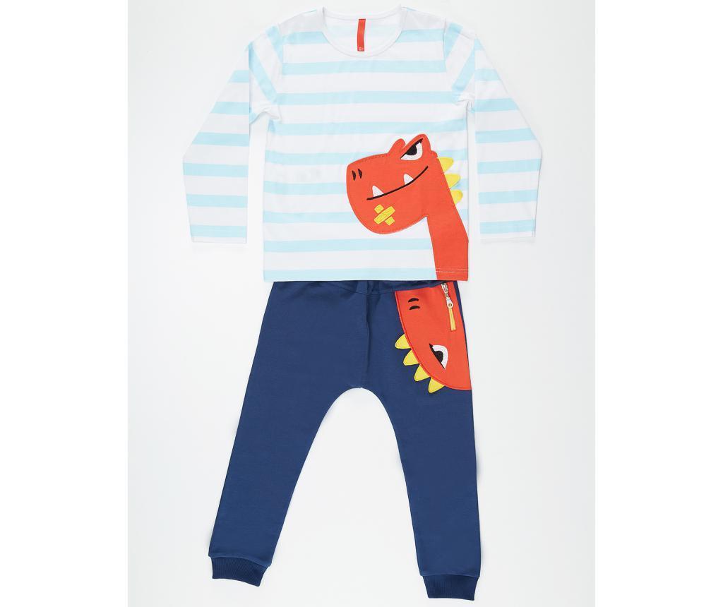 Set bluza si pantaloni pentru copii Orange Dino 4 ani