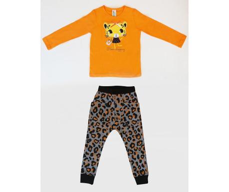 Set bluza si pantaloni pentru copii Leopard 5 ani