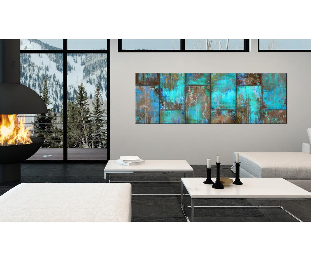 Slika Metal Mosaic Blue 135x45 cm
