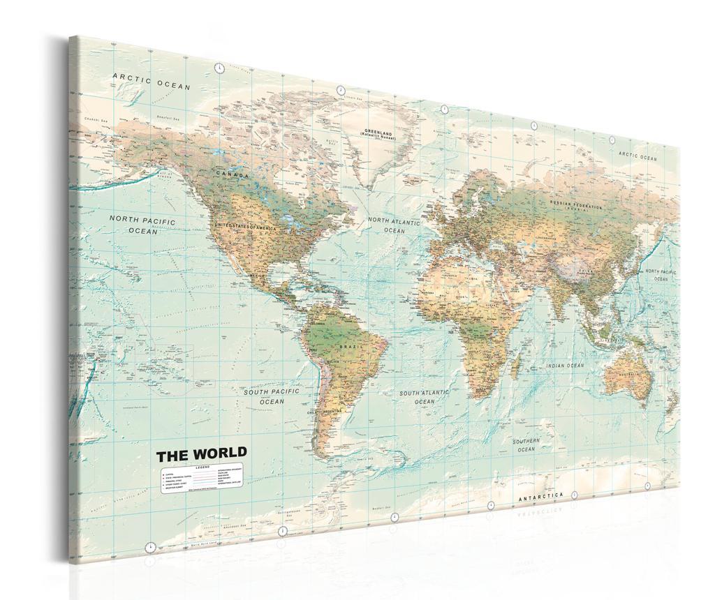 Slika World Map Beautiful World 120x80 cm
