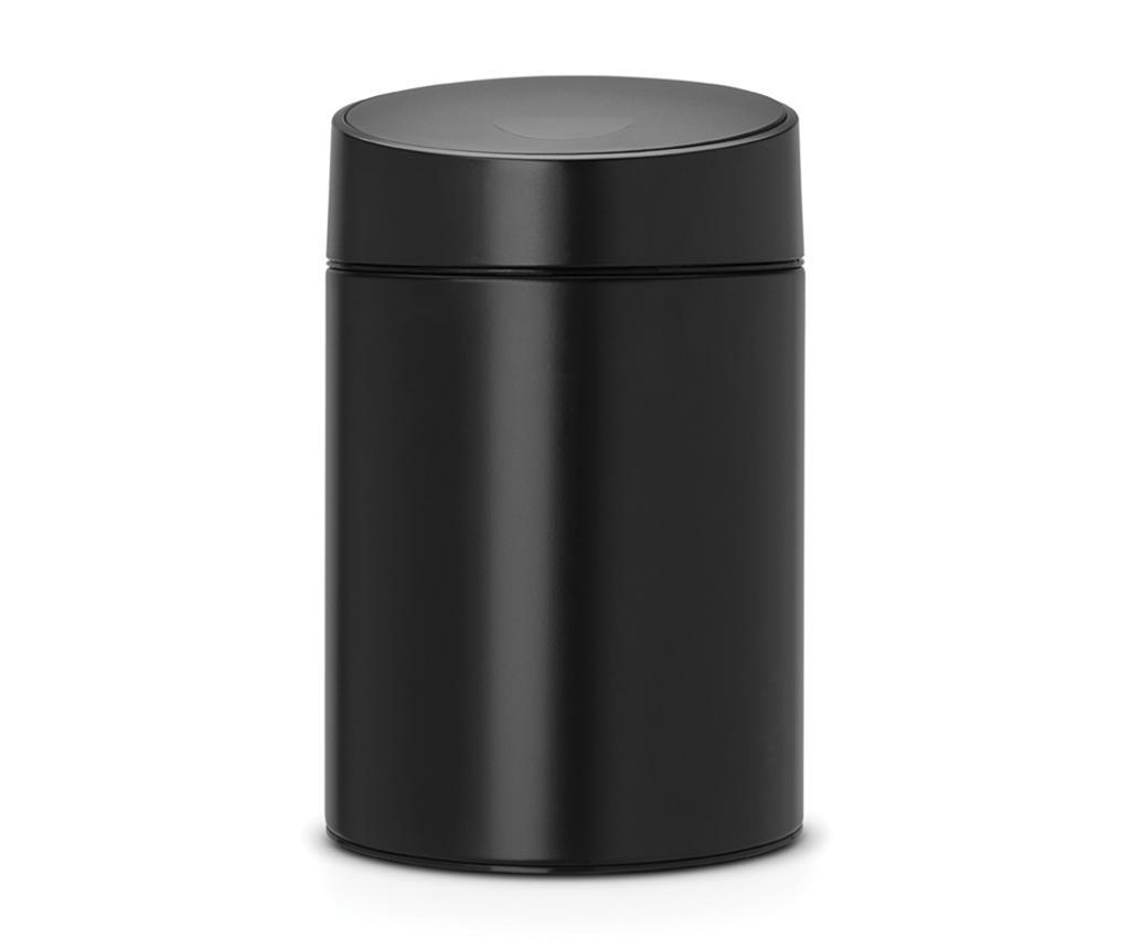 Brabantia Slide Black Fedeles szemetes kosár 5 L